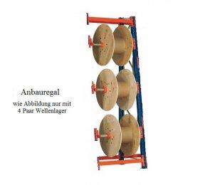Kabeltrommel-Anbauregal 399x90x44/100 cm Feldlast 4.000 kg
