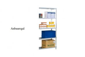 Schraub-Anbauregal 200x87x40 cm Fachlast 150 kg Feldlast 1.200 kg