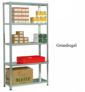 Schraub-Grundregal 300x87x30 cm Fachlast 250 kg Feldlast 1.400 kg