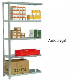 Schraub-Anbauregal 200x87x30 cm Fachlast 250 kg Feldlast 1.400 kg
