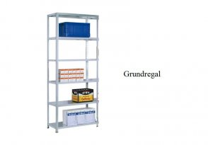 Schraub-Grundregal 300x100x30 cm Fachlast 350 kg Feldlast 1.400 kg