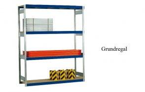 Weitspann-Grundregal Holzpaneel 250x201x40 cm  Fachlast 400 kg Feldlast 2.500 kg