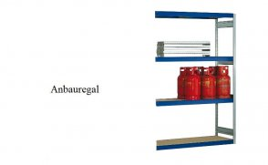 Weitspann-Anbauregal Holzpaneel 300x175x60 cm Fachlast 400 kg Feldlast 2.500 kg