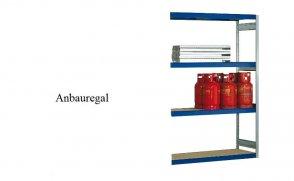 Weitspann-Anbauregal Holzpaneel 250x175x60 cm Fachlast 400 kg Feldlast 2.500 kg
