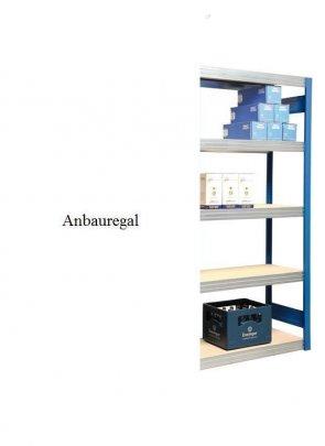 Großfach-Anbauregal Enzianblau 300x128x50 cm Fachlast 250 kg Feldlast 2.000kg