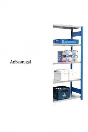 Lager-Anbauregal Enzianblau  300x87x30 cm Fachlast 250 kg Feldlast 2.000 kg