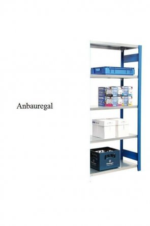 Lager-Anbauregal Enzianblau  300x128x50 cm Fachlast 250 kg Feldlast 2.000 kg