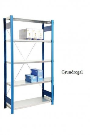 Lager-Grundregal Enzianblau  200x128x60 cm Fachlast 250 kg Feldlast 2.000 kg