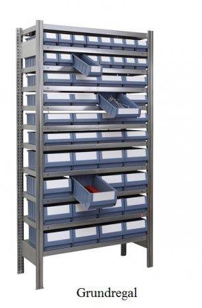 Ordnungs-Grundregal 200x100x50 cm Fachlast 150 kg Feldlast 2000 kg (mit Regalkästen)