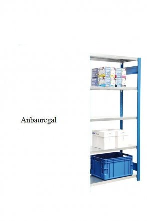 Standard-Anbauregal Enzianblau  300x87x40 cm Fachlast 150 kg Feldlast 2.000 kg