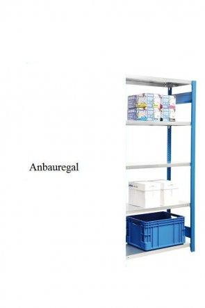 Standard-Anbauregal Enzianblau  250x87x40 cm Fachlast 150 kg Feldlast 2.000 kg