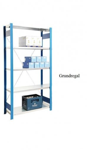 Standard-Grundregal Enzianblau  250x87x40 cm Fachlast 150 kg Feldlast 2.000 kg
