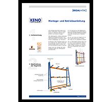 Montageanleitung KENO Profillagerregal: 2,9 MB