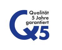 5 Jahre Qualität garantiert